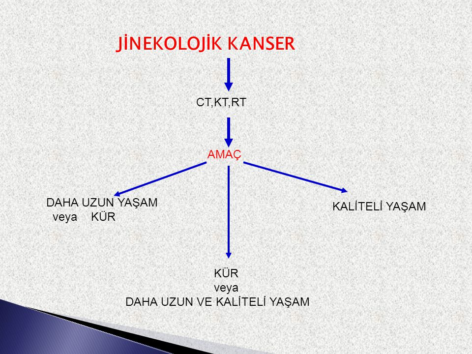 JİNEKOLOJİK KANSER CT,KT,RT AMAÇ DAHA UZUN YAŞAM KALİTELİ YAŞAM