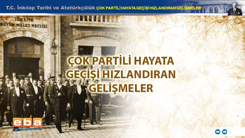 T.C. İnkılap Tarihi ve Atatürkçülük ÇOK PARTİLİ HAYATA GEÇİŞİ HIZLANDIRAN GELİŞMELER