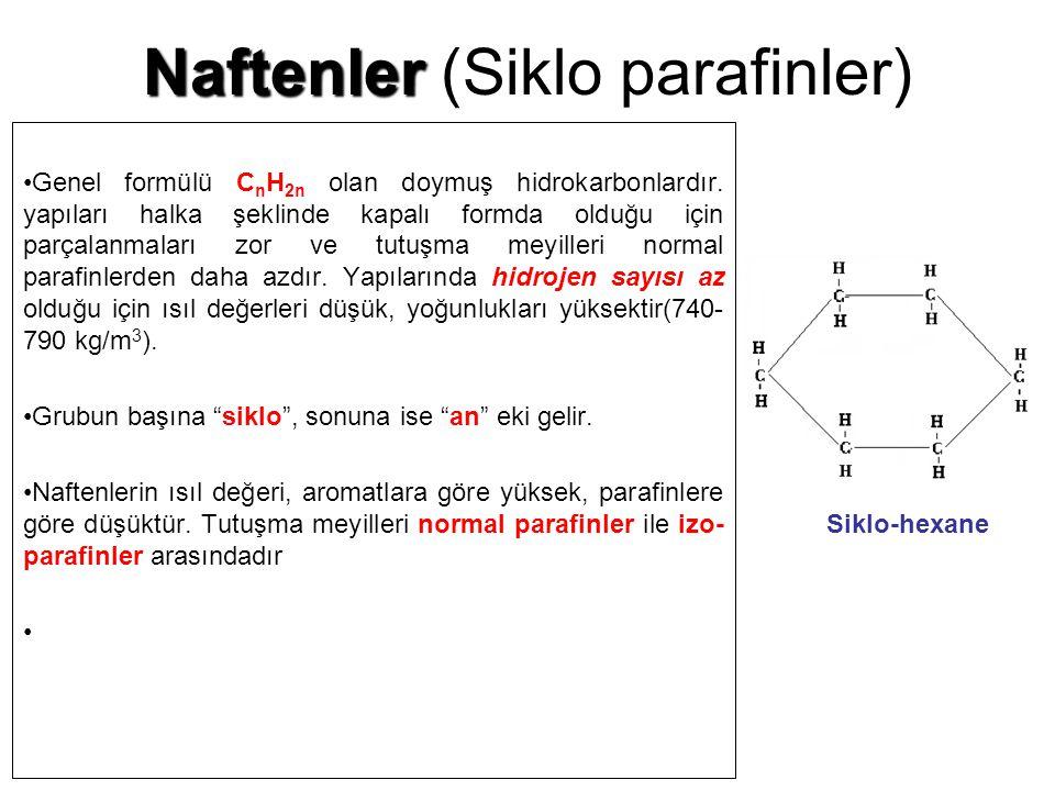 Naftenler (Siklo parafinler)