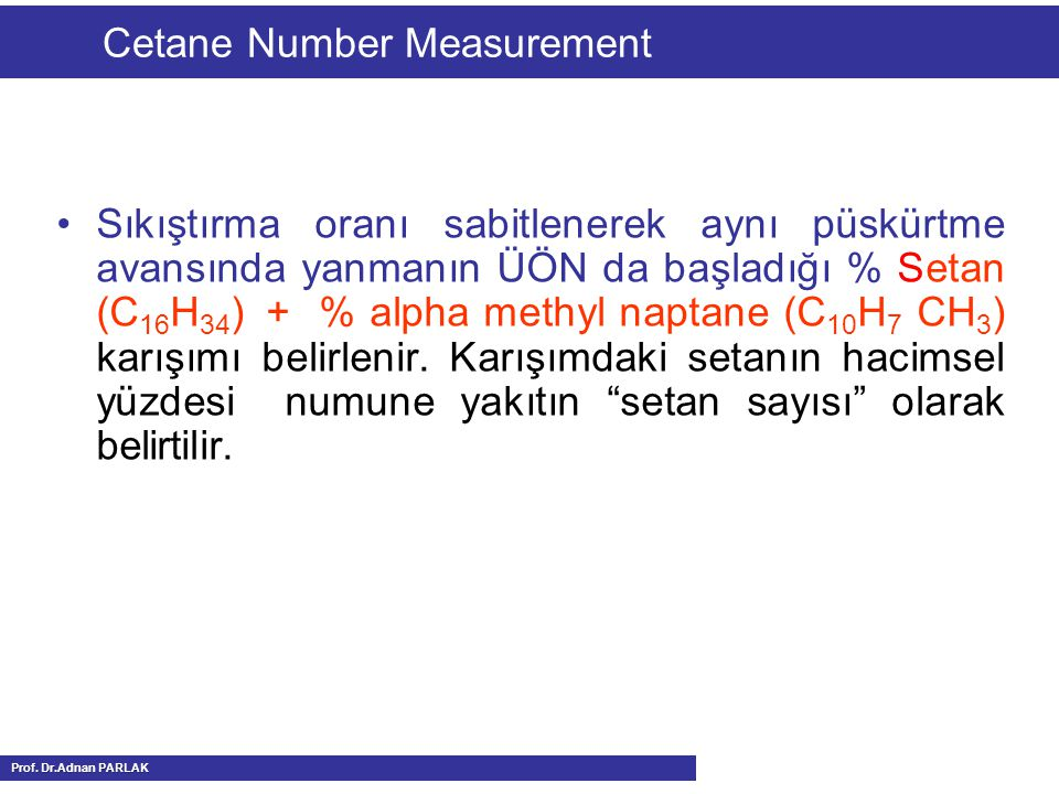 Cetane Number Measurement