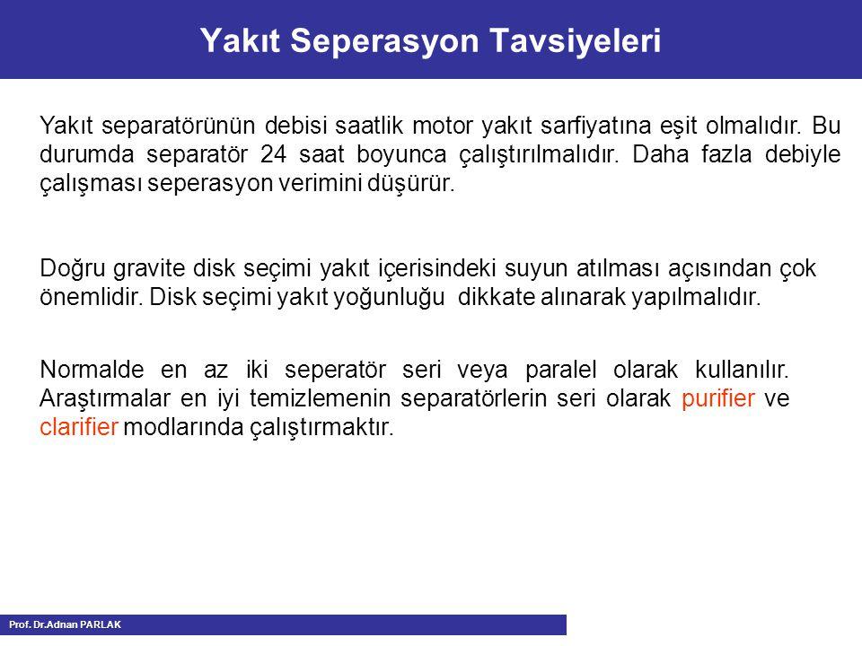 Yakıt Seperasyon Tavsiyeleri
