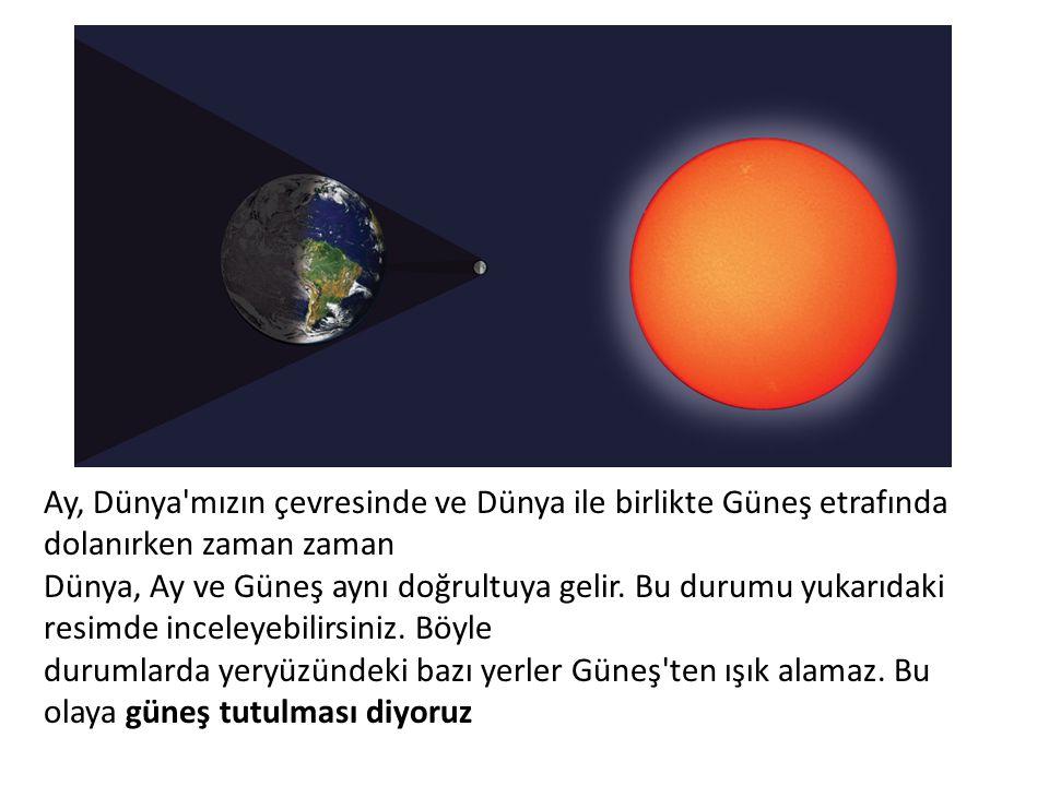 Ay, Dünya mızın çevresinde ve Dünya ile birlikte Güneş etrafında dolanırken zaman zaman