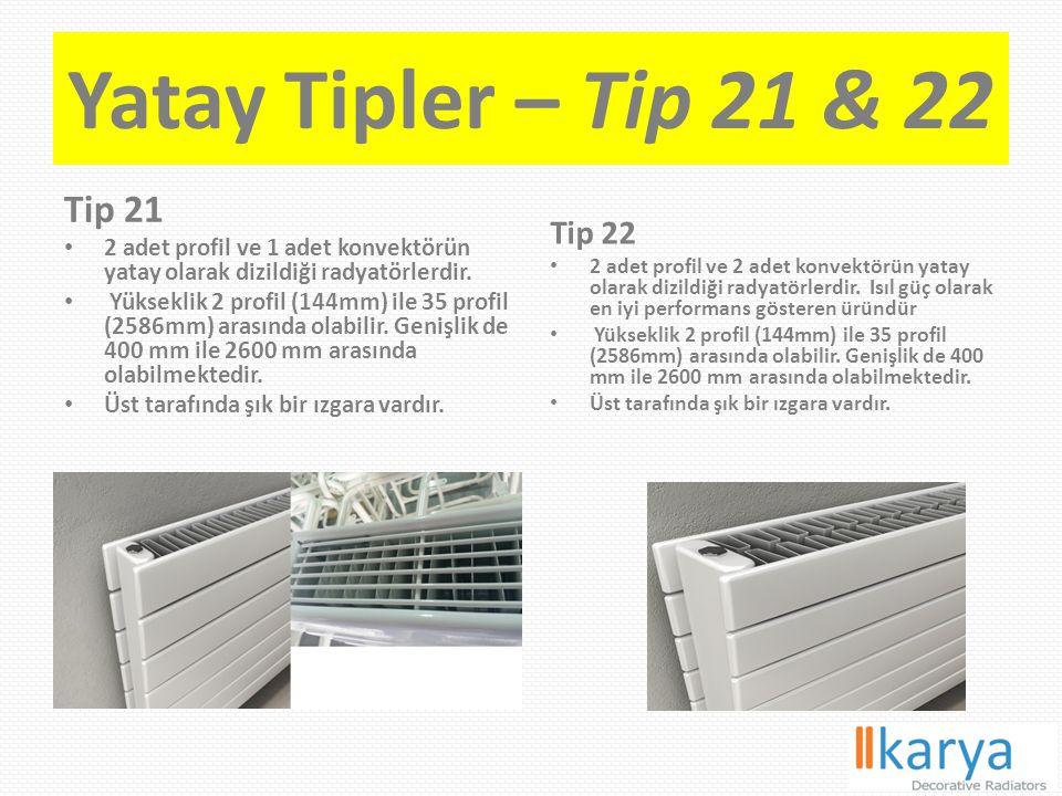 Yatay Tipler – Tip 21 & 22 Tip 21 Tip 22