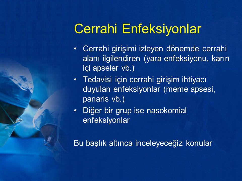 Cerrahi Enfeksiyonlar