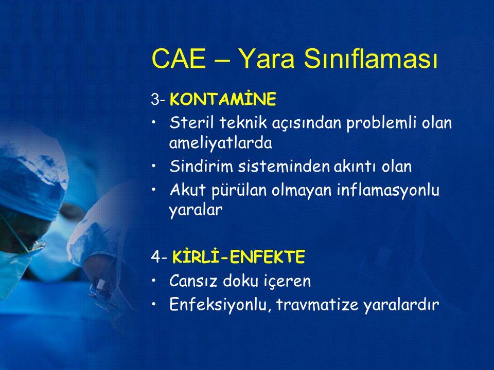 CAE – Yara Sınıflaması 3- KONTAMİNE