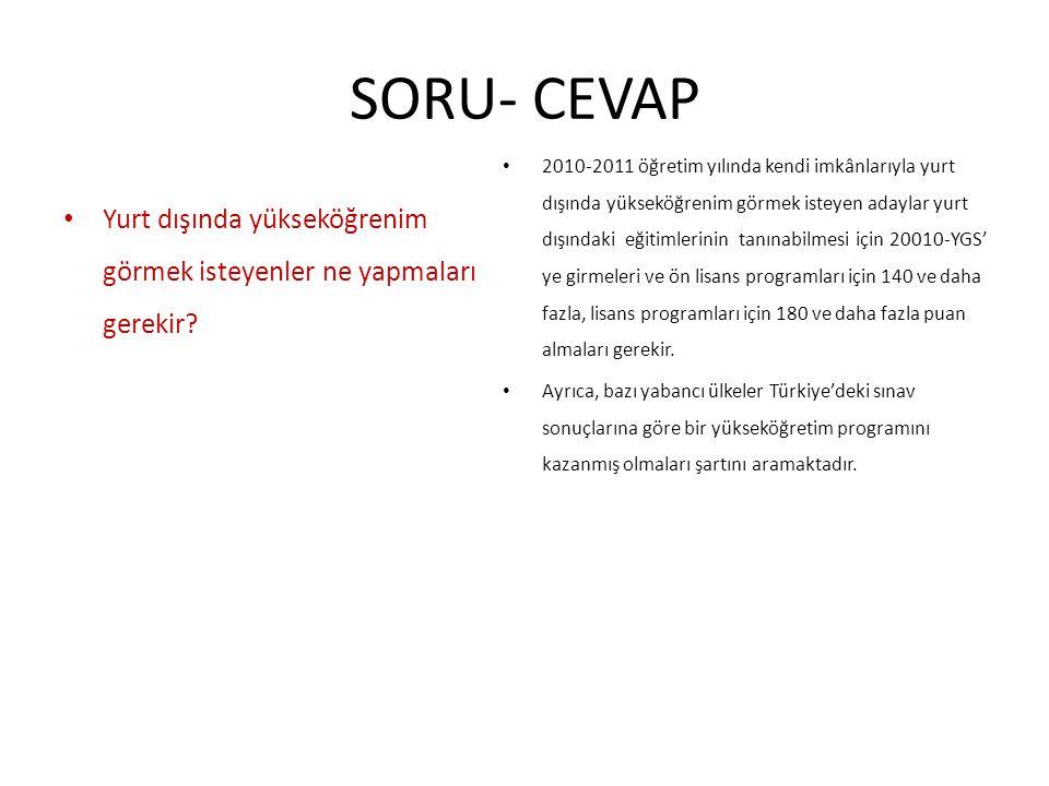 SORU- CEVAP