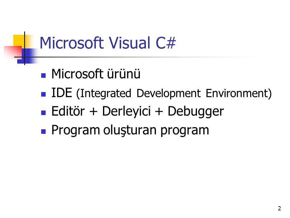 Microsoft Visual C# Microsoft ürünü