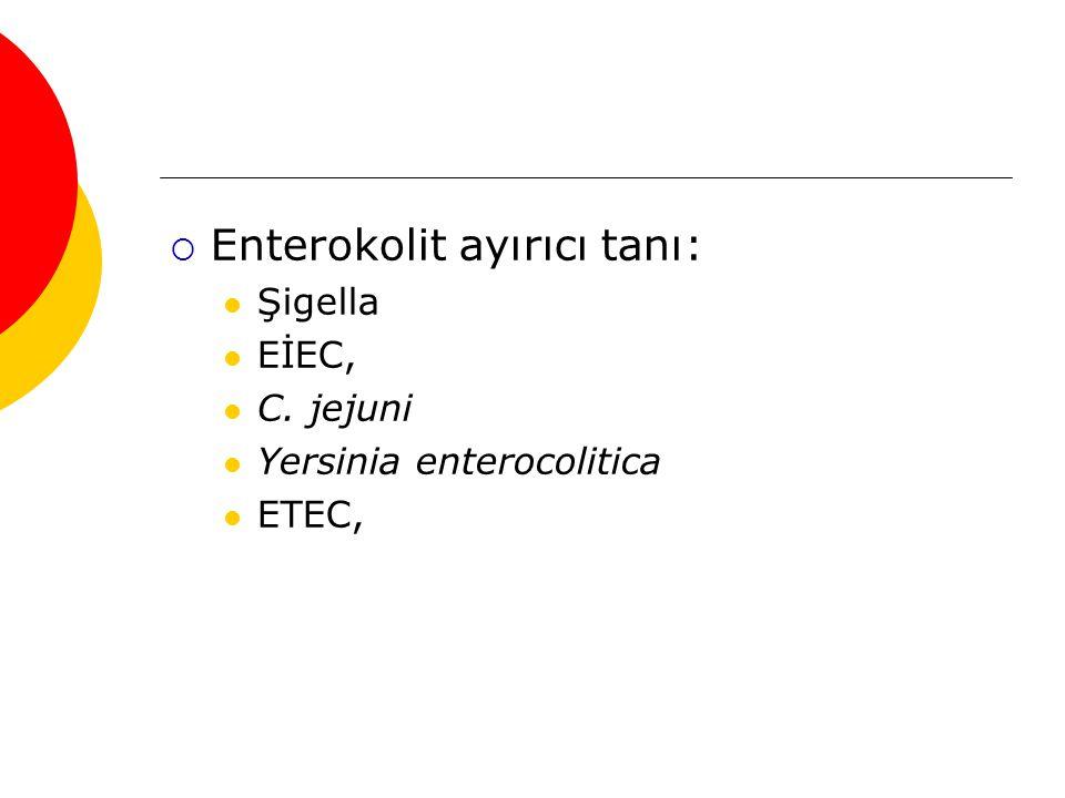 Enterokolit ayırıcı tanı: