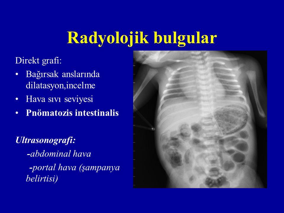 Radyolojik bulgular Direkt grafi: