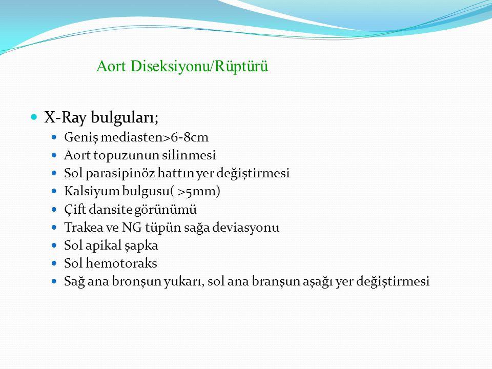 Aort Diseksiyonu/Rüptürü