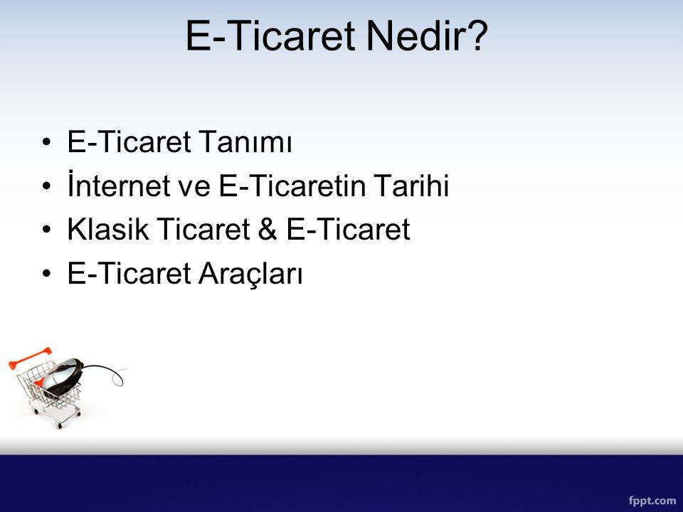 E-Ticaret Nedir E-Ticaret Tanımı İnternet ve E-Ticaretin Tarihi