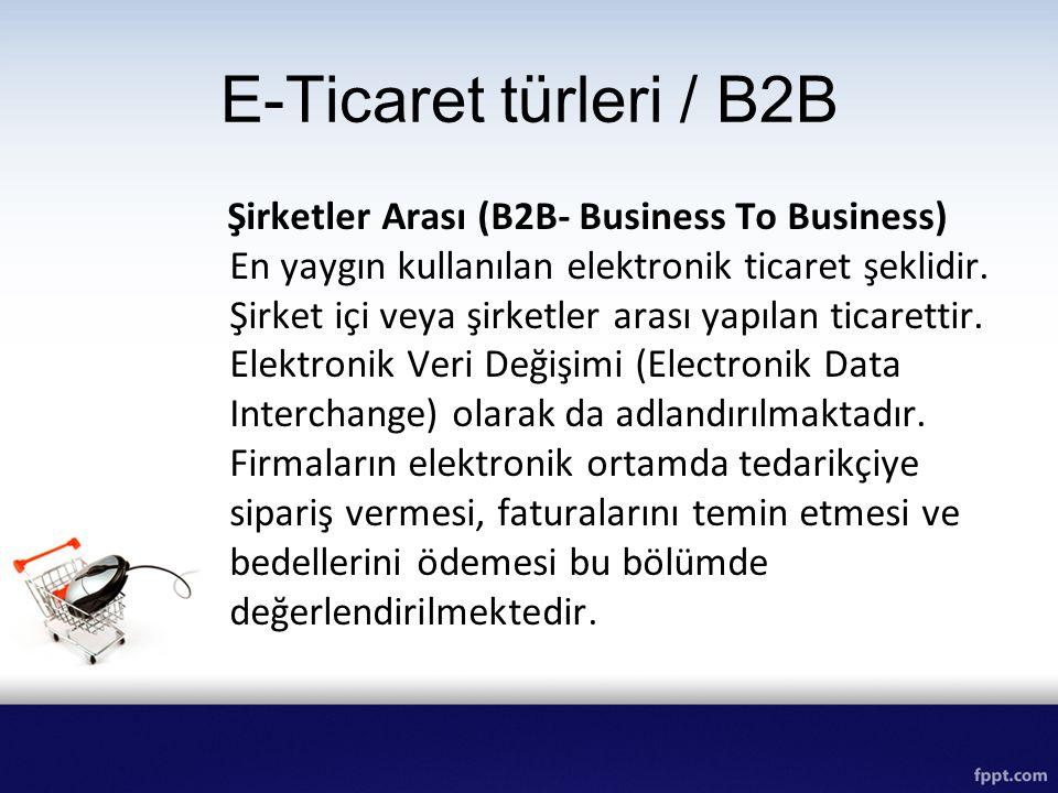 E-Ticaret türleri / B2B