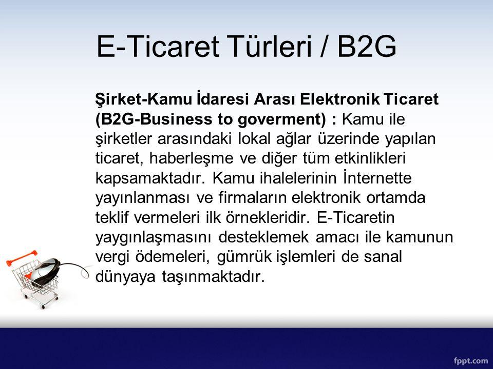 E-Ticaret Türleri / B2G