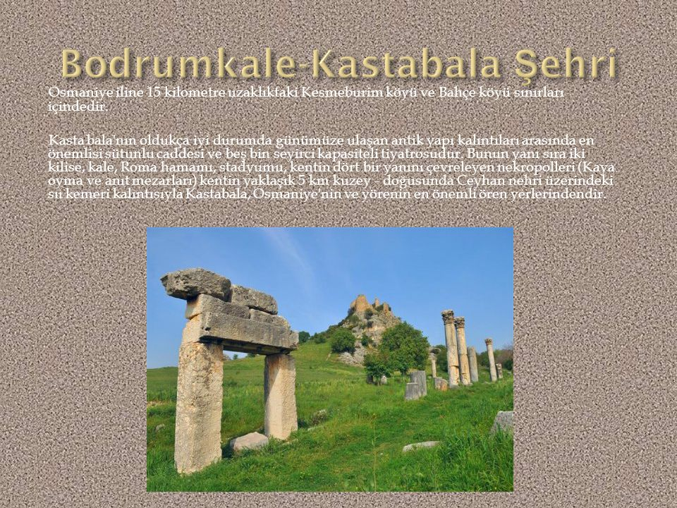 Bodrumkale-Kastabala Şehri