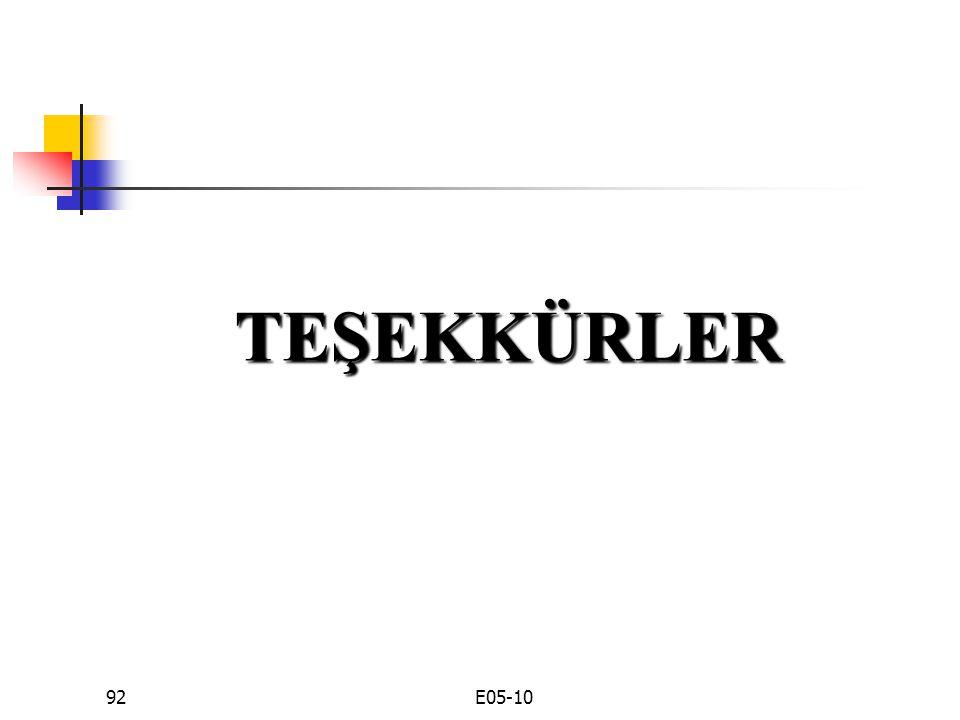 TEŞEKKÜRLER E05-10