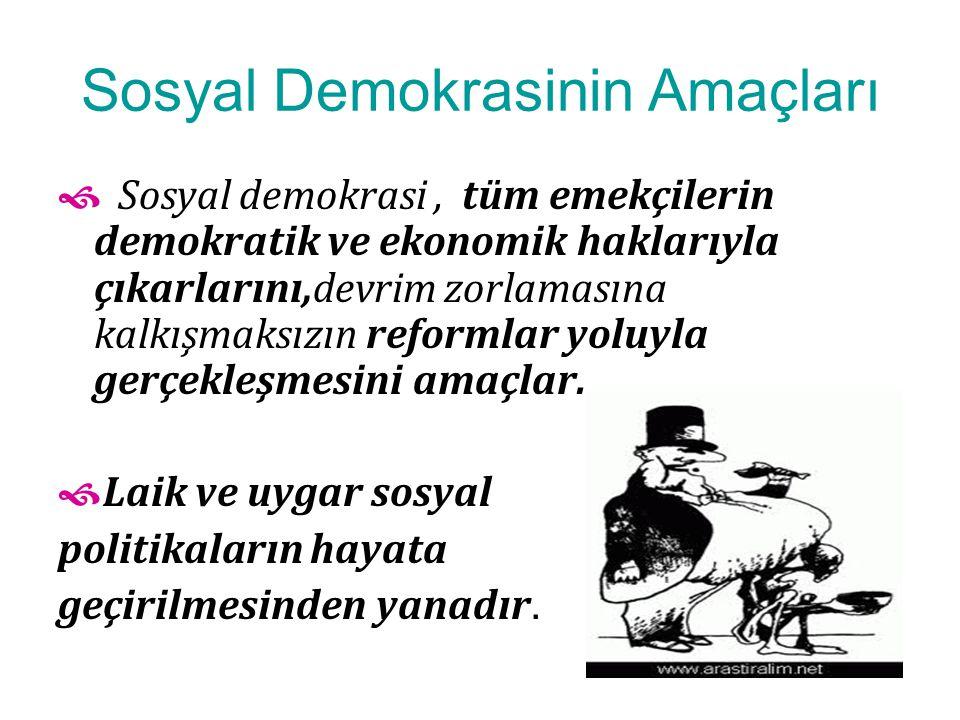 Sosyal Demokrasinin Amaçları
