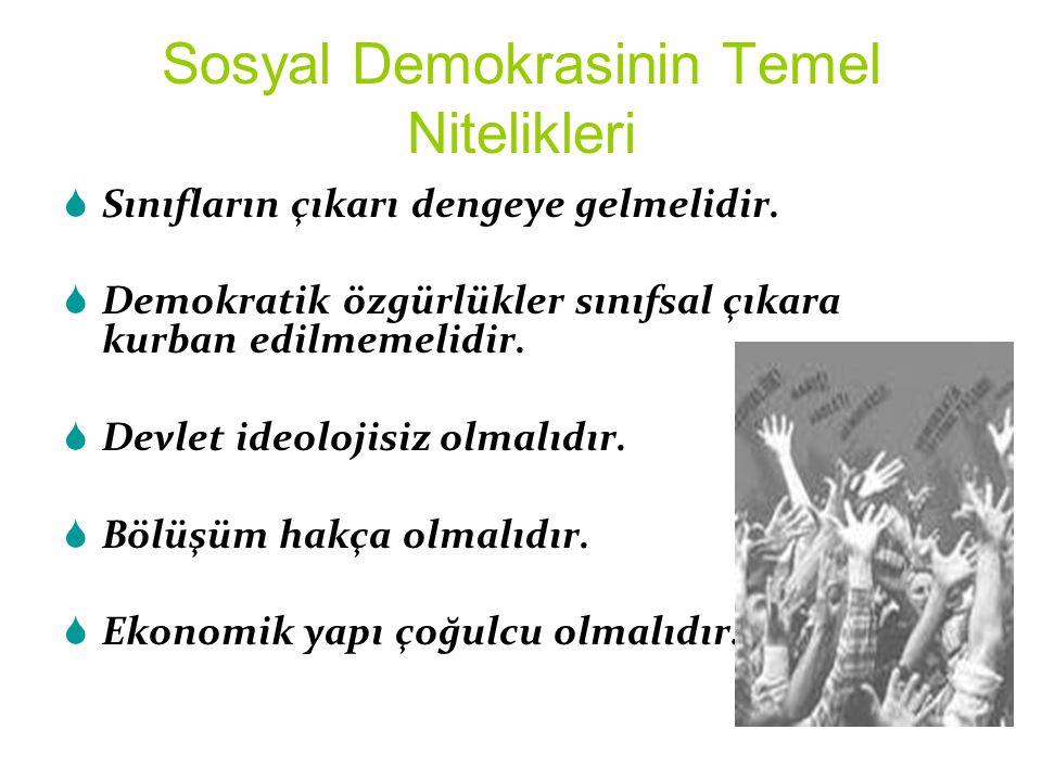 Sosyal Demokrasinin Temel Nitelikleri