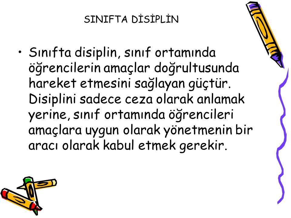 SINIFTA DİSİPLİN