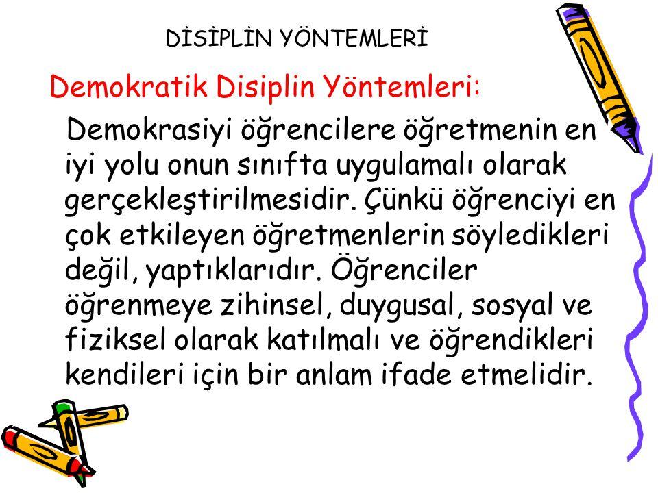 Demokratik Disiplin Yöntemleri: