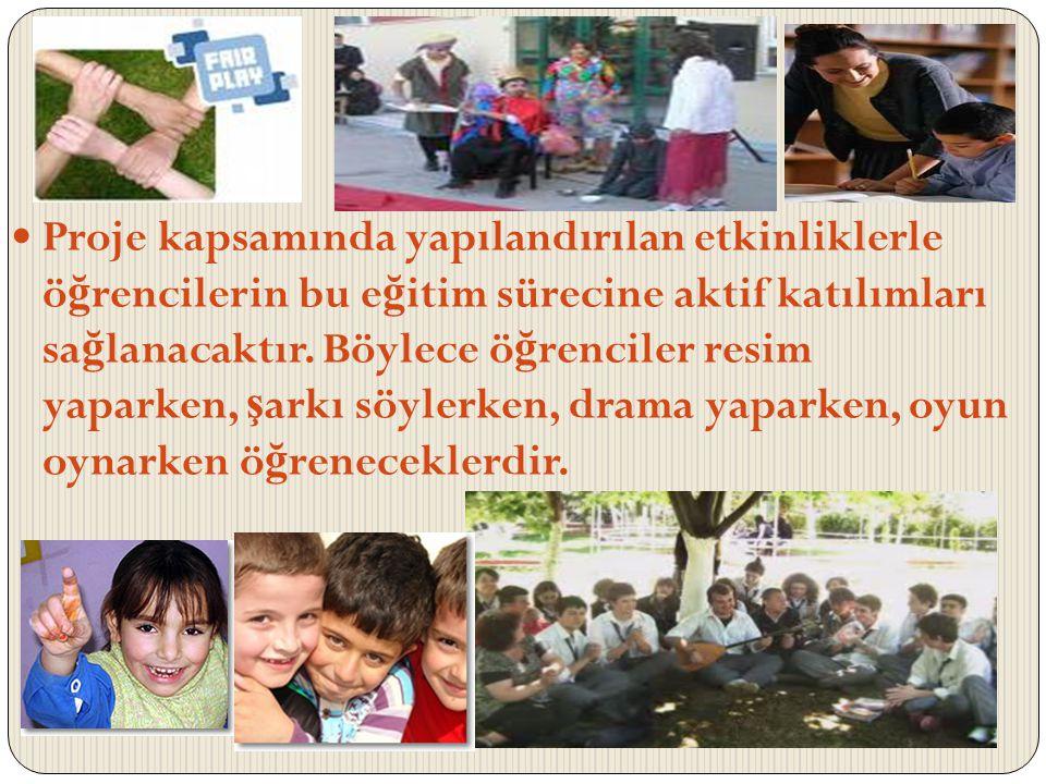 Proje kapsamında yapılandırılan etkinliklerle öğrencilerin bu eğitim sürecine aktif katılımları sağlanacaktır.