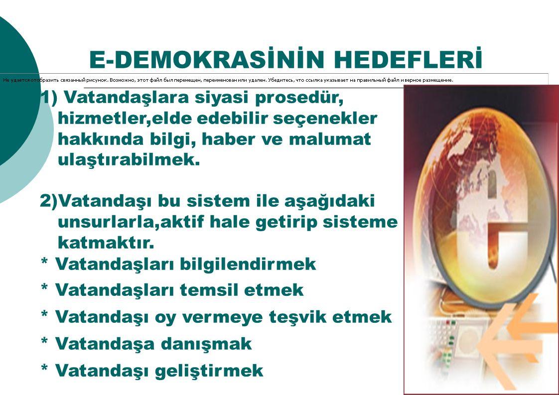 E-DEMOKRASİNİN HEDEFLERİ