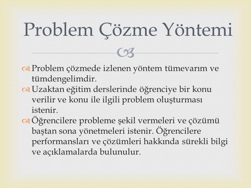 Problem Çözme Yöntemi Problem çözmede izlenen yöntem tümevarım ve tümdengelimdir.