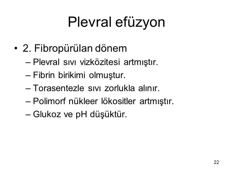 Plevral efüzyon 2. Fibropürülan dönem