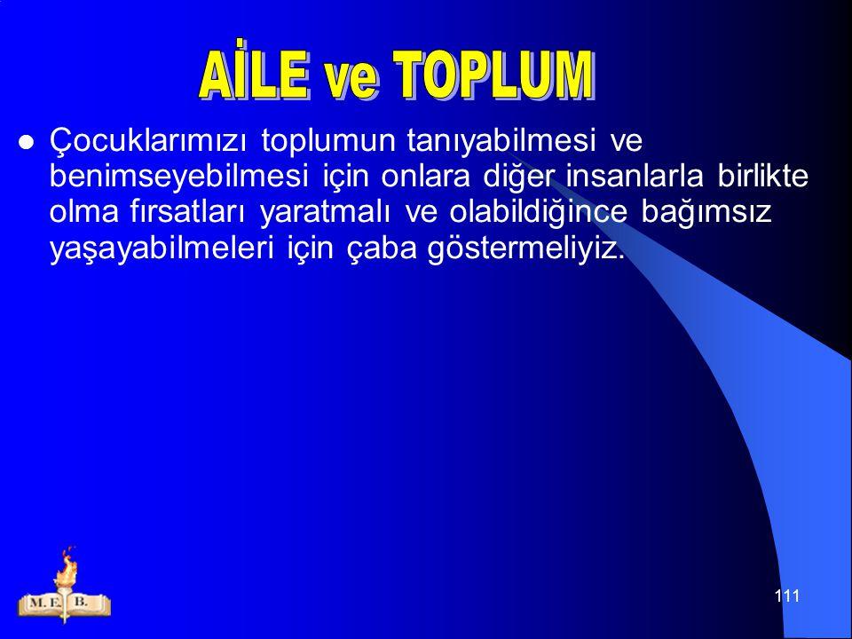 AİLE ve TOPLUM