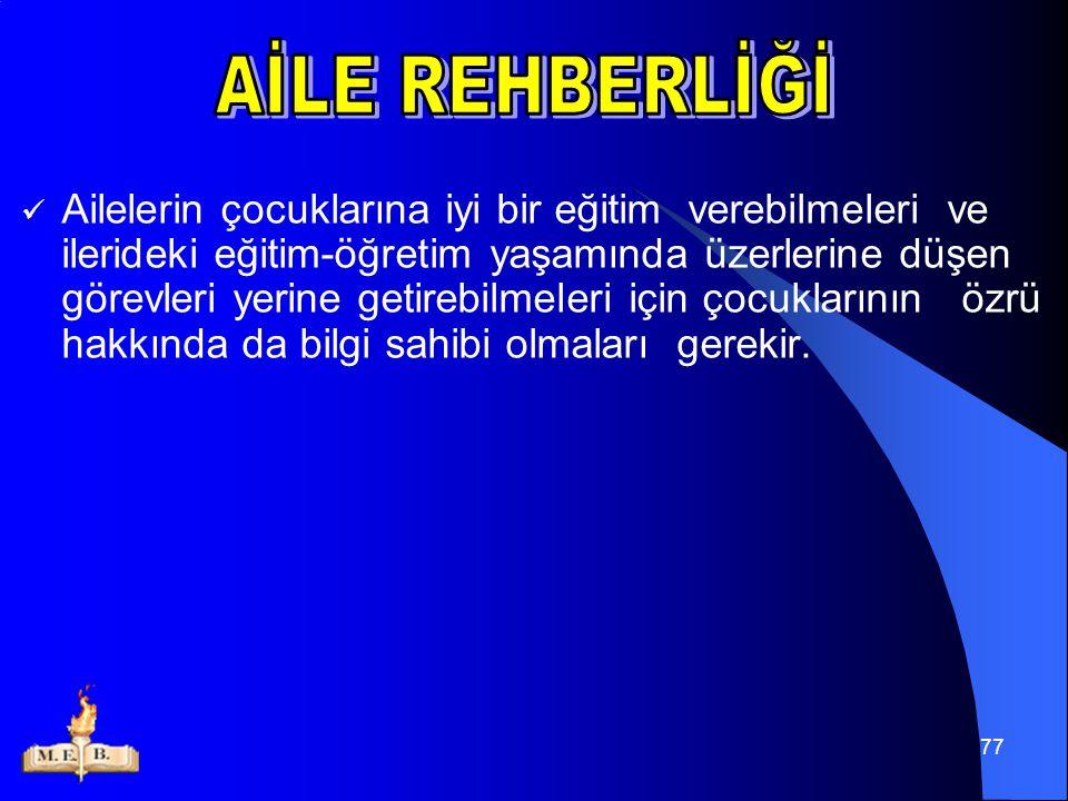 AİLE REHBERLİĞİ