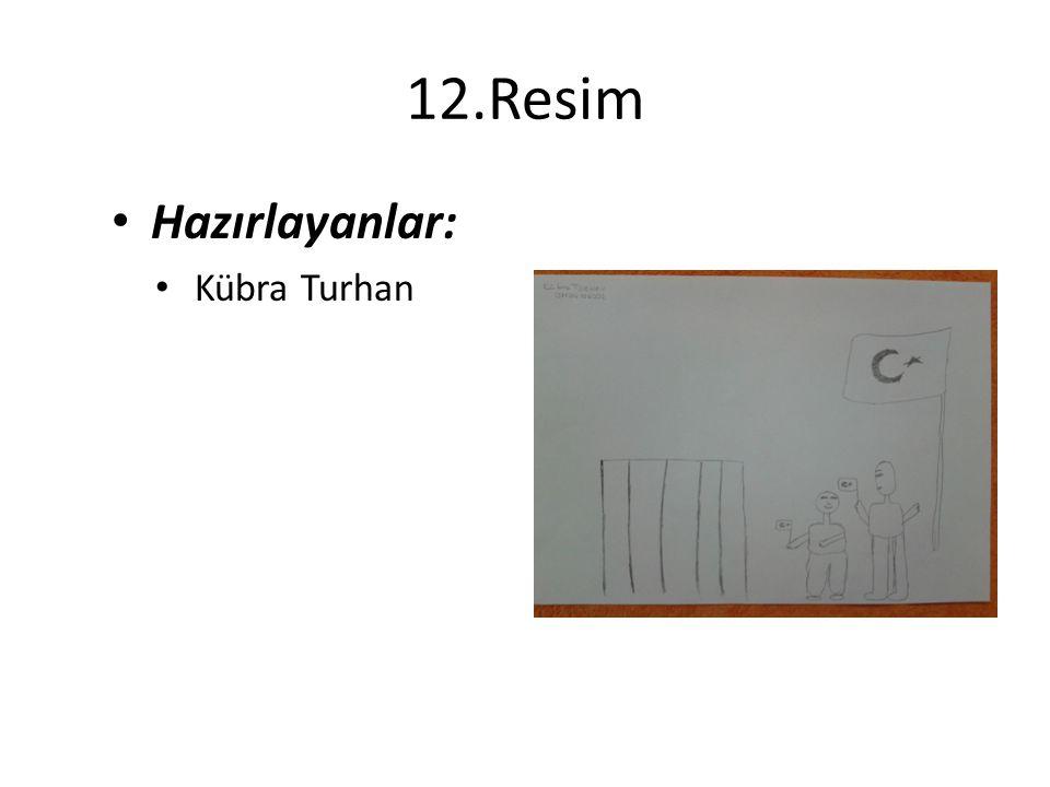 12.Resim Hazırlayanlar: Kübra Turhan