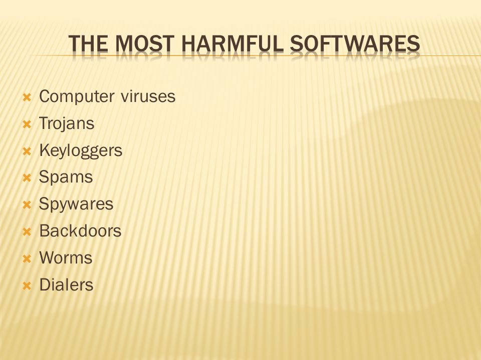 The Most Harmful Softwares
