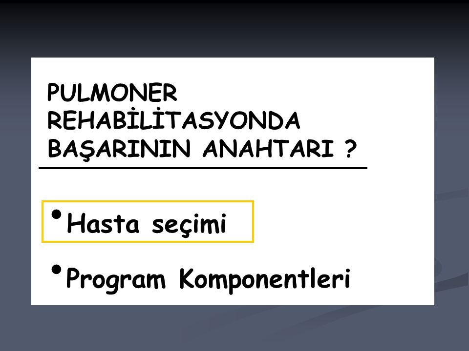 Program Komponentleri