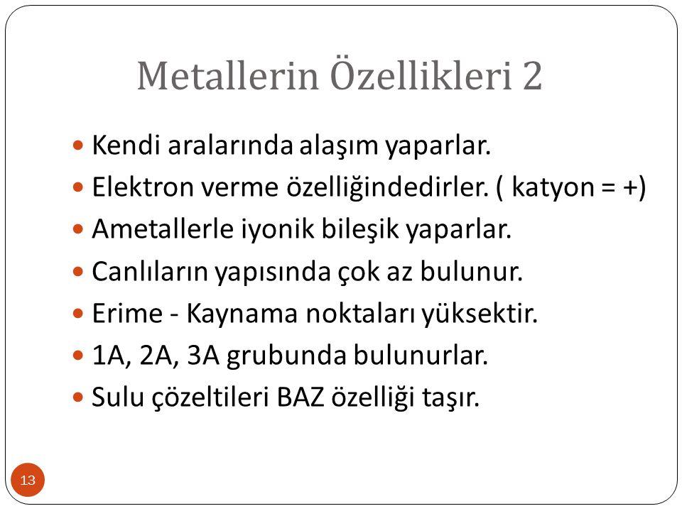 Metallerin Özellikleri 2