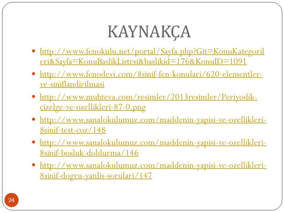 KAYNAKÇA http://www.fenokulu.net/portal/Sayfa.php Git=KonuKategoril eri&Sayfa=KonuBaslikListesi&baslikid=176&KonuID=1091.