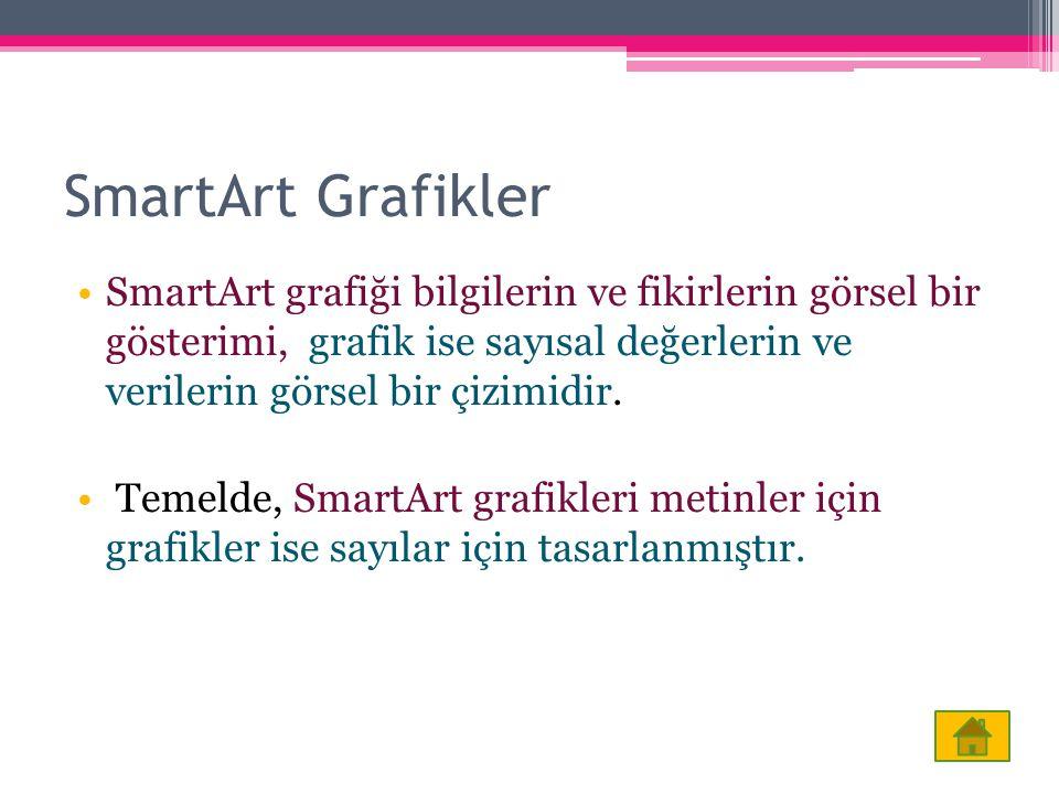 SmartArt Grafikler