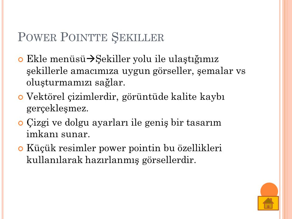 Power Pointte Şekiller