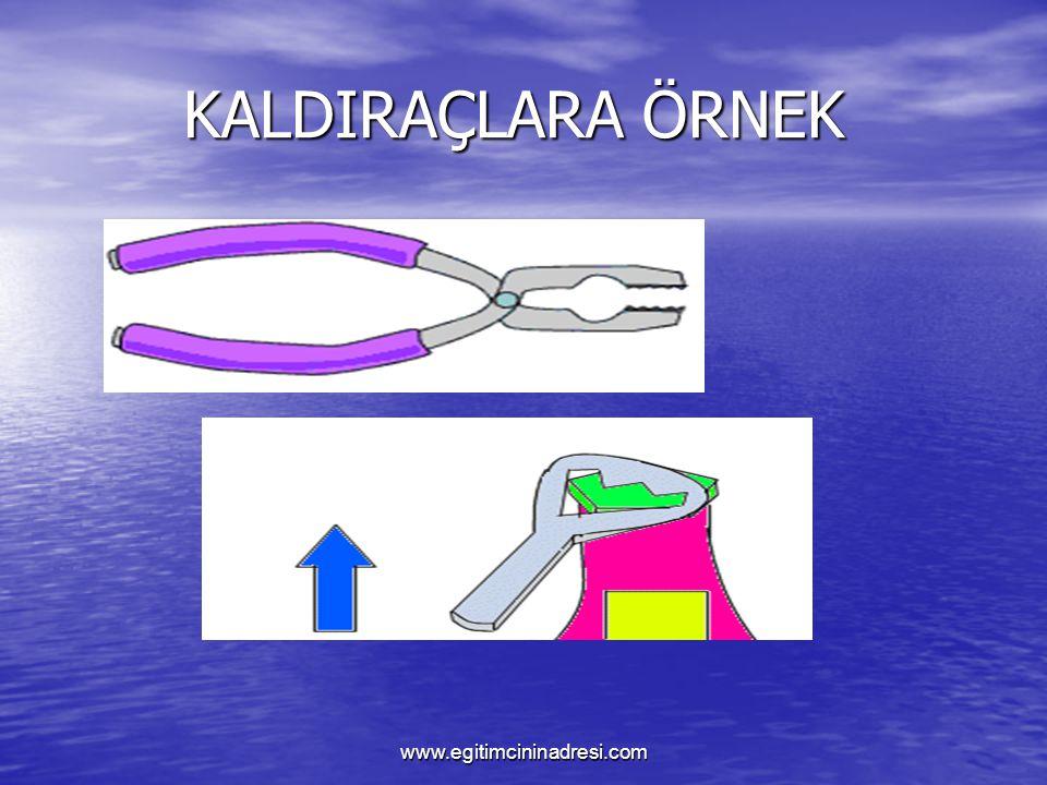 KALDIRAÇLARA ÖRNEK www.egitimcininadresi.com