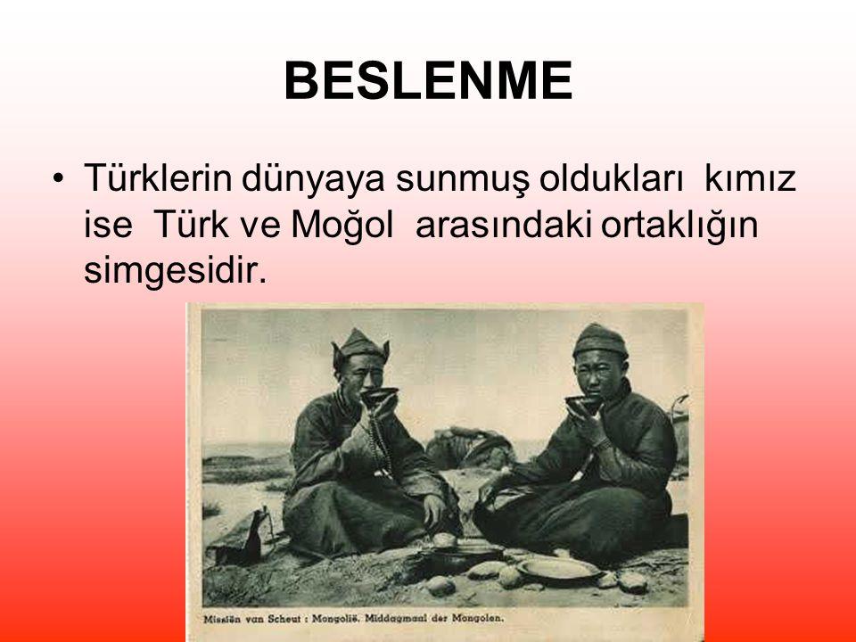BESLENME Türklerin dünyaya sunmuş oldukları kımız ise Türk ve Moğol arasındaki ortaklığın simgesidir.