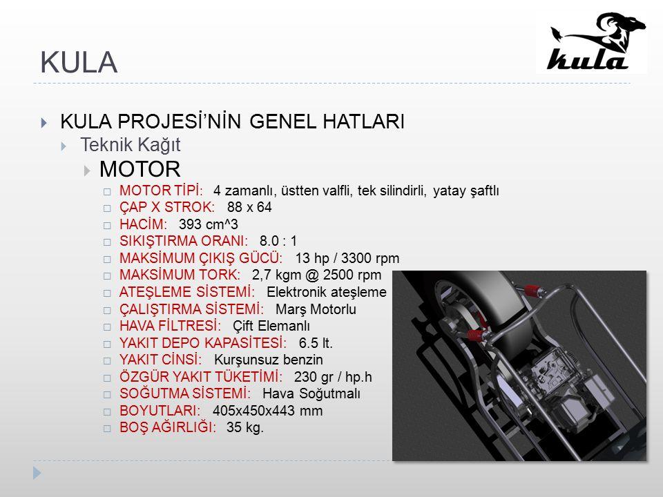 KULA MOTOR KULA PROJESİ'NİN GENEL HATLARI Teknik Kağıt