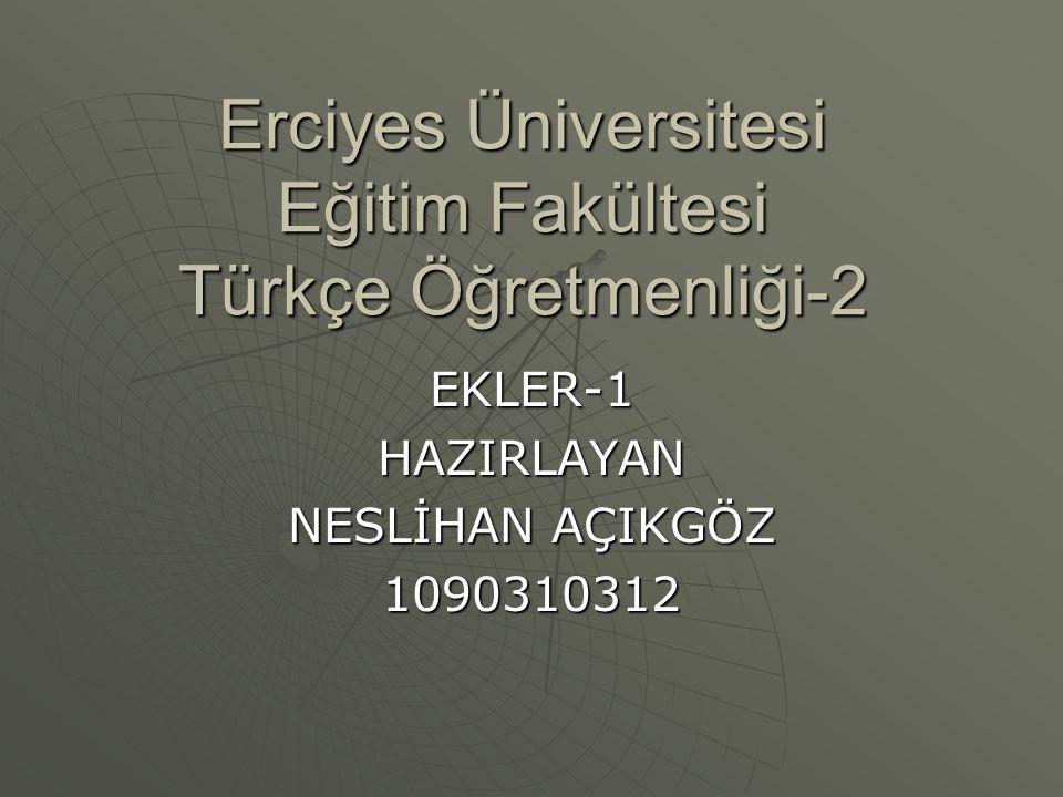 Erciyes Üniversitesi Eğitim Fakültesi Türkçe Öğretmenliği-2