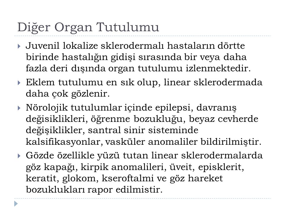 Diğer Organ Tutulumu