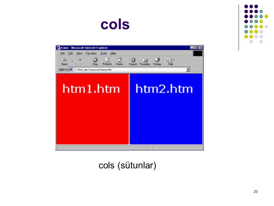 cols cols (sütunlar)