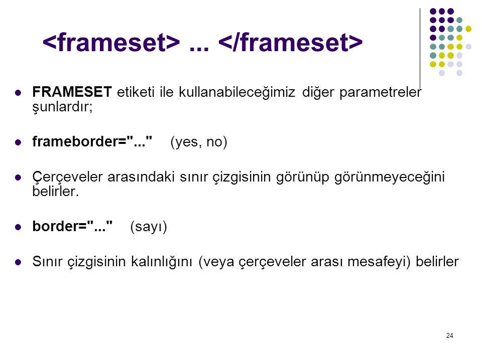 <frameset> ... </frameset>