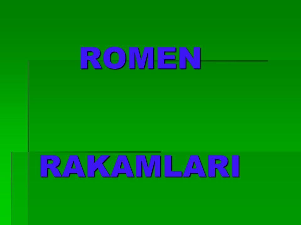 ROMEN RAKAMLARI