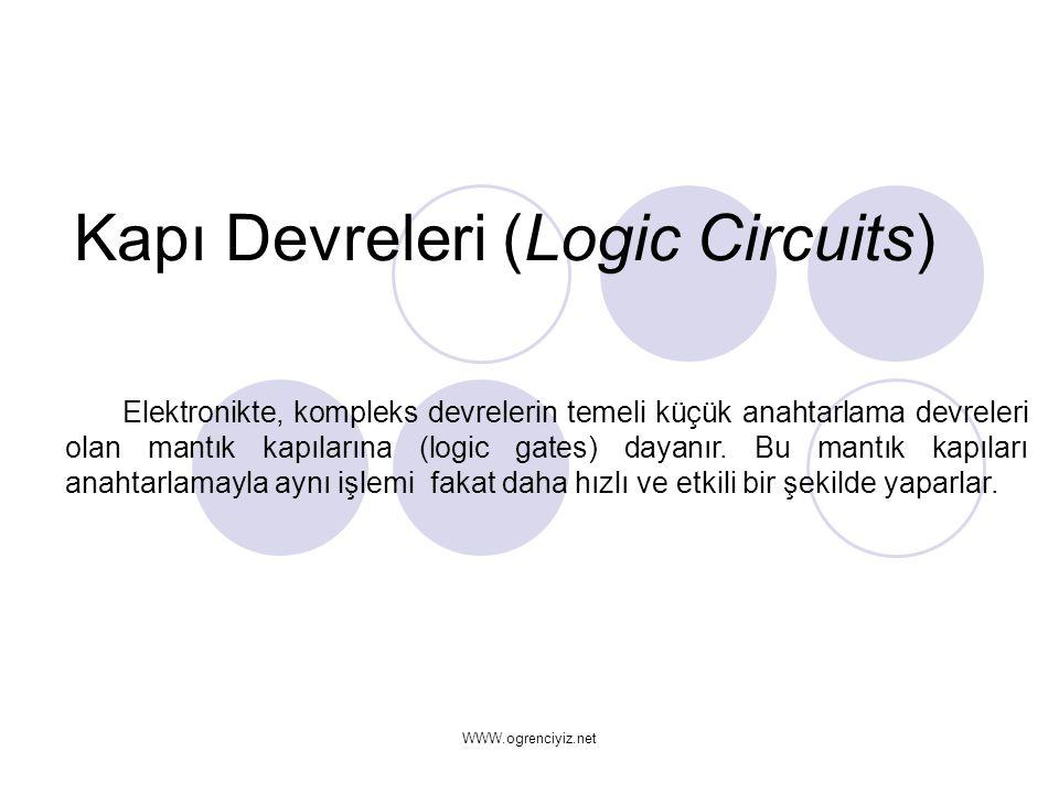 Kapı Devreleri (Logic Circuits)