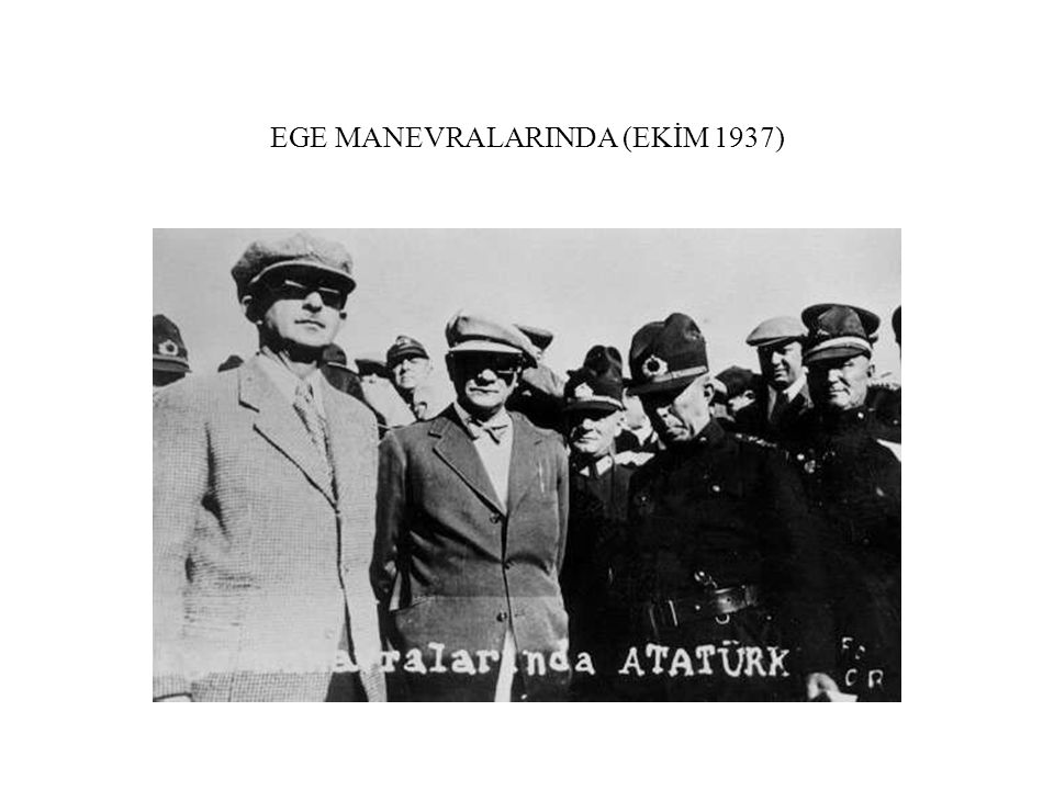 EGE MANEVRALARINDA (EKİM 1937)