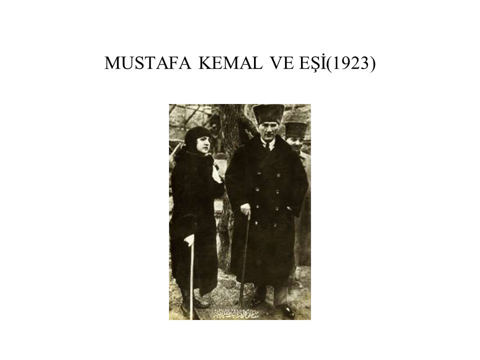 MUSTAFA KEMAL VE EŞİ(1923)
