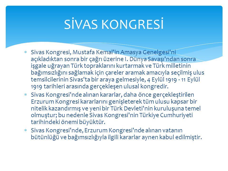 SİVAS KONGRESİ