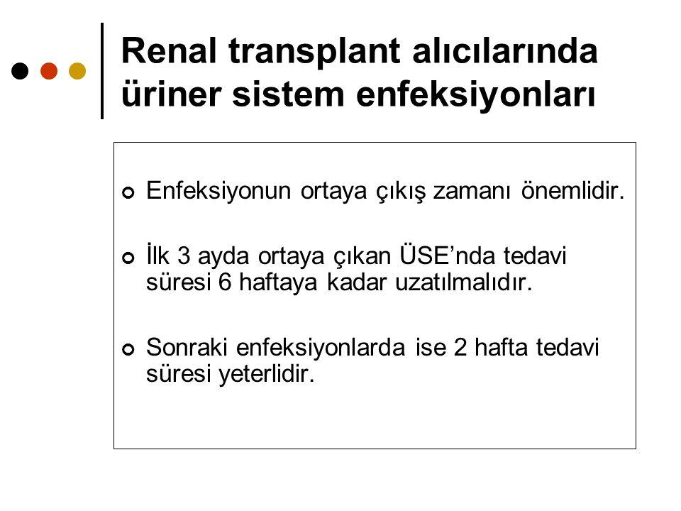 Renal transplant alıcılarında üriner sistem enfeksiyonları