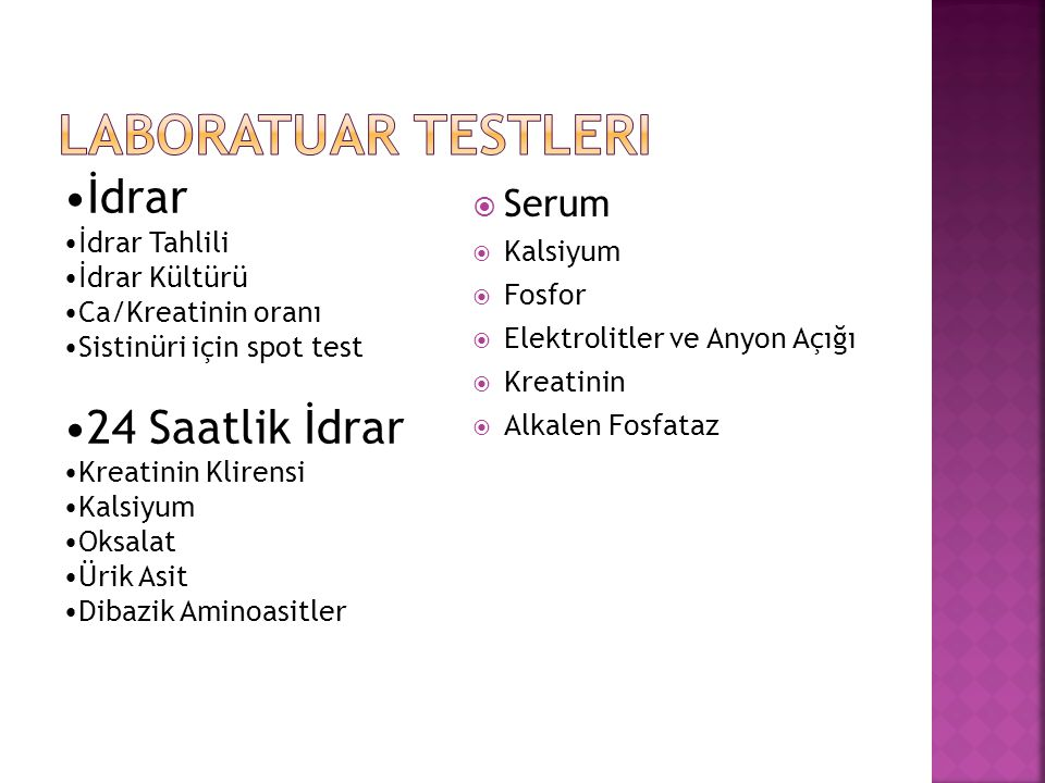 Laboratuar Testleri İdrar 24 Saatlik İdrar Serum İdrar Tahlili